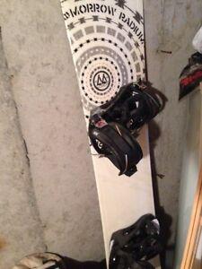 Planche à neige fixation et botte