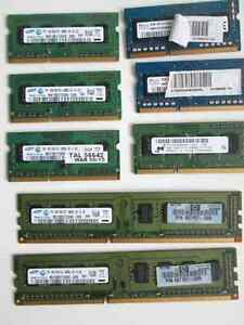 Memory Sticks for laptops and PCs RAM DDR3