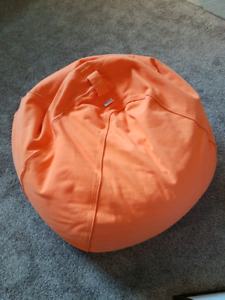 Orange Cloth Bean Bag Chair