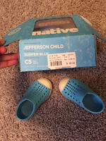 Native Shoes Baby/Toddler Size 5 Surfer Blue