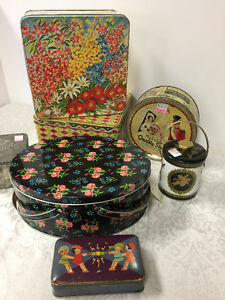 Vintage Tins -- FROM PAST TIMES Antiques & Coll -1178 Albert St