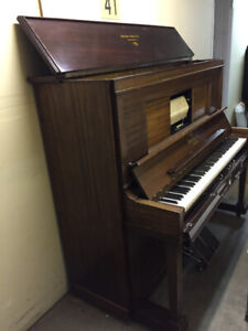 Player Piano & approx 80 rolls of old time tunes
