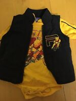 Size 18 months Pooh onesie and vest