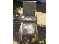 IKEA Poäng chair & stool