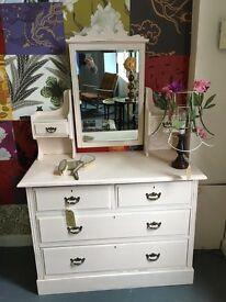 Beautiful vintage up cycled dressing table