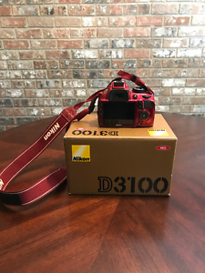 Nikon D3100 Body - Red - Excellent Condition