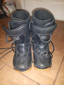 Kids size 6 used snowboard boots