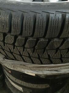 Winter tires on rims for sale.  Kingston Kingston Area image 2