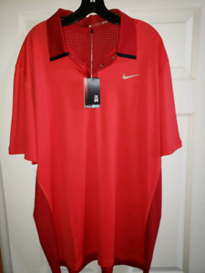 Nike tiger woods shirt size XL AND XXL 70 $ ea