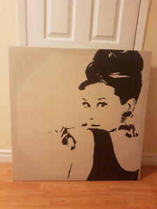 Ikea PJATTERYD, Audrey Hepburn 90x90 canvas for sale. Brand new