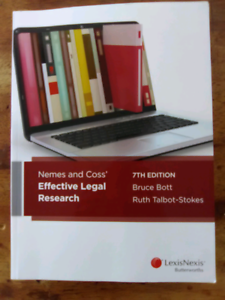 Nemes and Coss' Effective Legal Research 7th Edition LexisNexis Wardell Ballina Area Preview