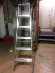 6 feet step ladder, aluminum