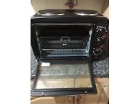 Salter mini toaster oven with 2 hotplate hobs