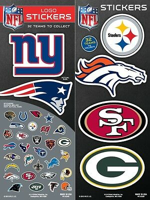(NFL Football Team Logo Sticker Chose Your Own some teams buy one get one free)