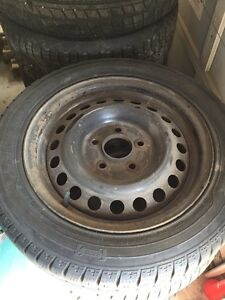 195/55/15 winter rims and tires for sale