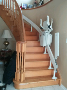 Looking for a curved stair lift? Save $ stairlift chairlift