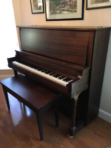Mozart upright piano (restored) & bench
