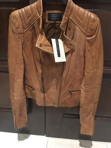 Zara leather jacket - Brand New with tags (veste cuir) West Island Greater Montréal image 1