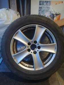 18 inch original bmw mags and winter tires