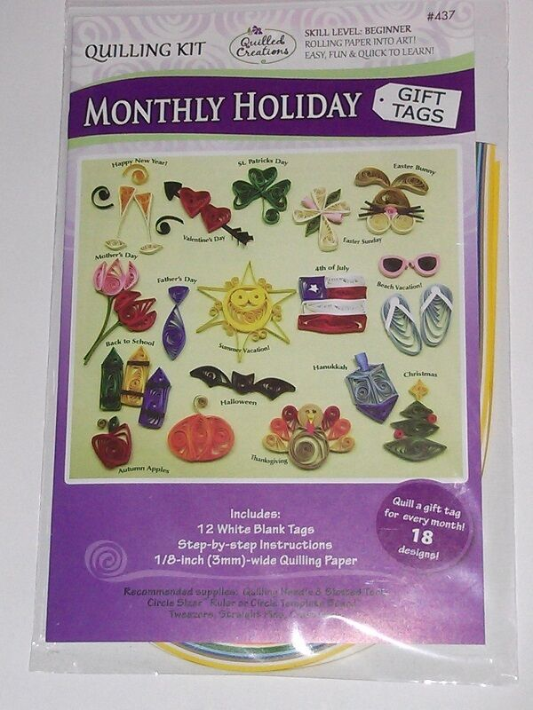 MONTHLY HOLIDAY GIFT TAGS QUILLING KIT-Quilled Paper Craft-Cardmaking