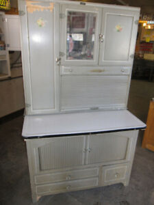 "ROBERT SIMPSON ""CANADA"" HOOSIER CABINET COMPLETE & LOADED"
