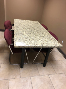 Granite Table with 4 chairs