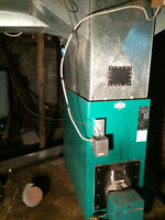Oil fired forced air Furnace, certified oil tank and duct work