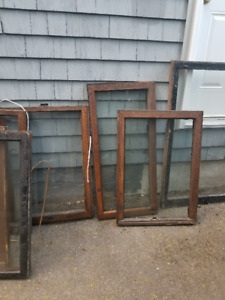 antiqued windows and frames $20 each - various sizes