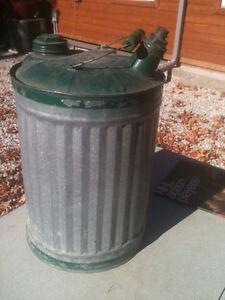 Vintage antique 5 gallon gas can