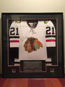 Stan Mikita Original six autographed and framed jersey
