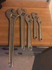 5 piece set of proto adjustable wrenches