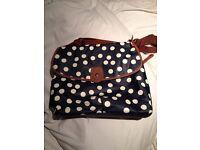 Mamas and Papas changing bag - navy dot