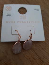 M&S Rose collection earrings.