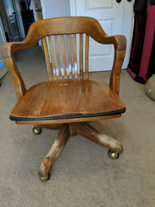 Antique swivel desk chair