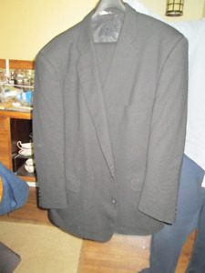 black suit size 48 jacket