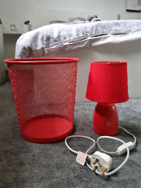 Bed side lamp and bin