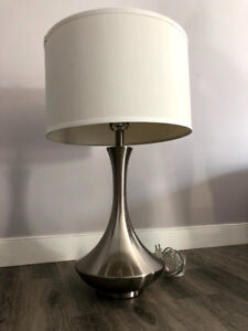 NEW Elegant Larger Heavy Table Lamp with White Shade