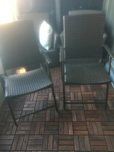 Two matching patio chairs!