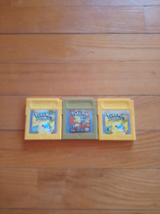 Pokemon yellow et gold.