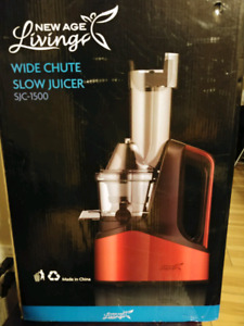 Wide chute slow juicer
