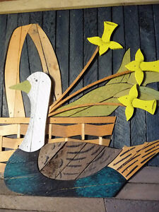 "Wooden Folk Art by Theodore Degroot ""Country Daffodils"" 1970's Stratford Kitchener Area image 9"