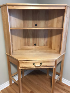 *** NEW LOWER PRICE.  Solid wood computer corner desk