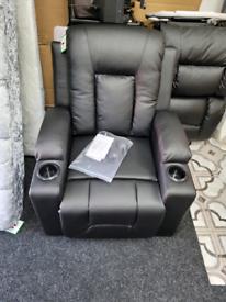Push Back Manual Recliner Mercury Row Upholstery Colour: Black