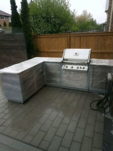 Outdoor Napolean BBQ kitchenette