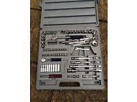 Wrench set ratchet tool box