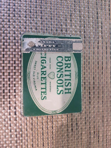 Antique cigarette 50's and 100's tins
