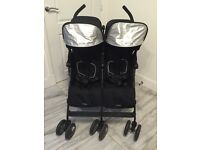 Maclaren twin techno black double buggy pram stroller