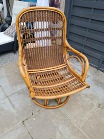 Wicker swivel chair