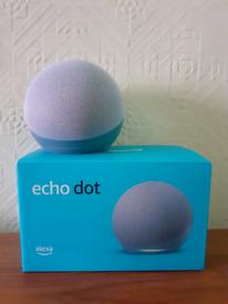 Amazon Alexa Echo Dot 4th Generation Smart Speaker in Twilight Blue