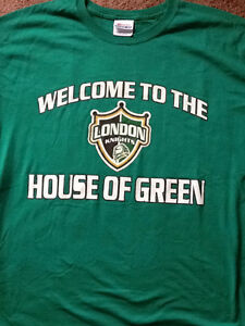 London Knights signature on 2005 Memorial House of Green shirt